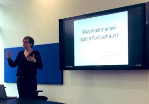 Susanne Klingner bei Microsoft in München; Foto: M. Rogl